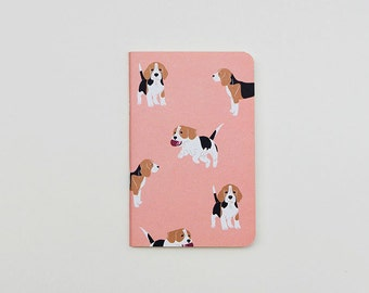 Pink Beagle Pocket Notebook