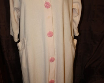 Vintage Pink Fleece Robe