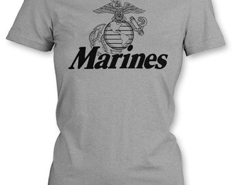 Marine Corps. U.S. - New - United States Marines USMC Military Juniors Tee [GD007] Womens T Shirt - Small to 3XL