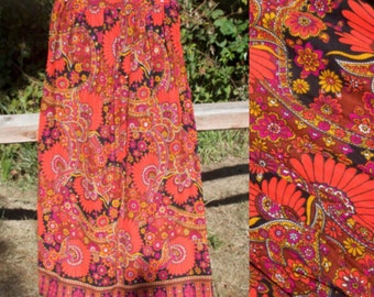 1960's Psychedelic Paisley Skirt