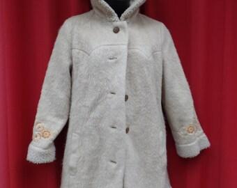 vintage Heller Sport winter wear overcoat hoodie - women's small or petite medium