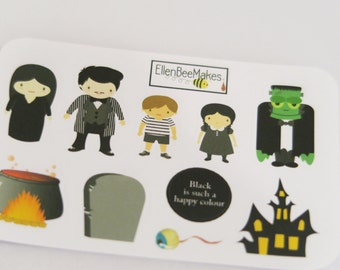 Adams Family Themed Stickers