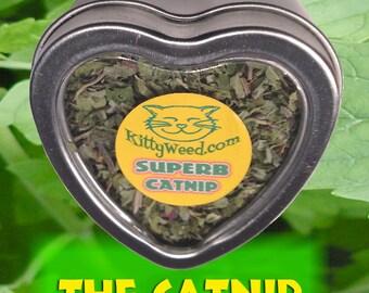 Catnip Heart Tin Fridge Magnet! Valentine cat toy KittyWeed's Cat's Love It Hemp Toy Green Fun Gifts Girl Woman Boy Men Cat pets