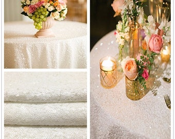 White Sequin Tablecloth, Sequin Tablecloth