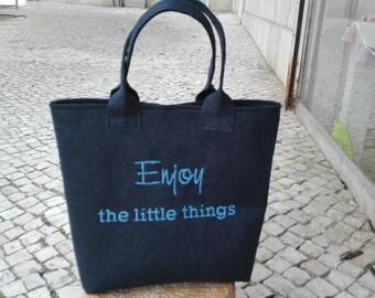 Felt handbag, tote, inspiration wherever you go!