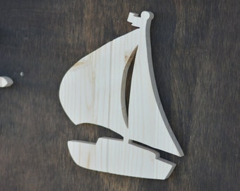 Sailboat Nautical Wood Cutout