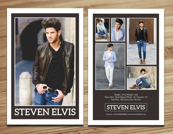Model comp card template modeling comp card fashion card for Free model comp card template psd
