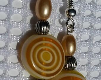 Spiral yellow earrings