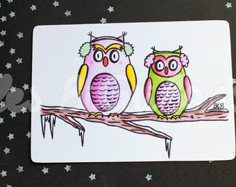 Map small owls