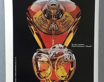 1981 Pinch Scotch Whisky Print Ad