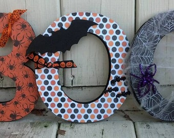 Halloween Decorations, BOO Standing Wooden Letters, BOO Decor, Halloween Decor, BOO Letters, Boo centerpiece, Halloween Wooden Decor