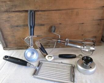 vintage kitchen tools. vintage kitchen tools retro black collection utensils 1950\u0027s-1970\u0027s farmhouse style