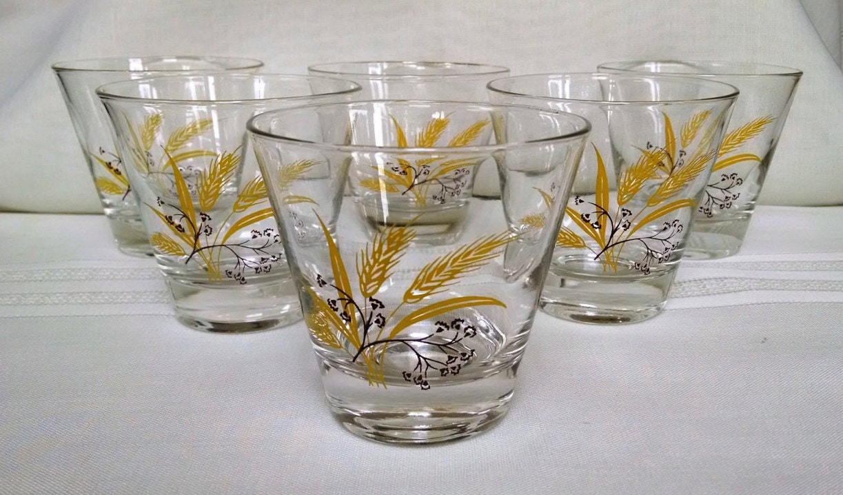 Autumn Gold Rock / Old Fashion Glasses Homer Laughlin Century