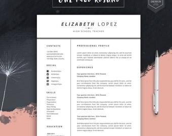 "Professional resume template, resume template for word, cv template, free cover letter, lebenslauf, cv design, curriculum vitae, ""RAINME"""