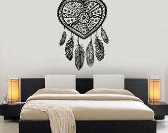 Wall Vinyl Decal Dreamcatcher Dream Catcher Ethnic Bedroom Decor Mural Art 1486dz