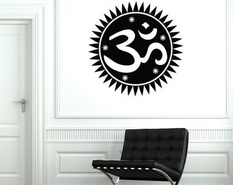 Wall Art Mural Om Zen Yoga Meditation Buddha Decor 2066di