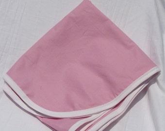 Cotton Receiving Blanket Pink