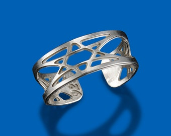 Horizon Star of David Sterling Silver Ring by Shira Jewelry USA
