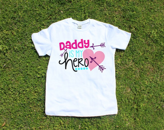 Girl 39 S T Shirt Daddy Is My Hero T Shirt Design Girls
