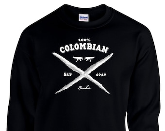100% Colombia Pablo Escobar shirt, Pablo Escobar sweater, pablo sweatshirt, Cocaine Drug Lord, Narcos, Mens Sweatshirt