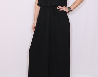 Long black dress Maxi dress Black bridesmaid dress