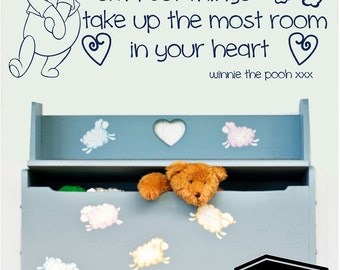 Winnie the pooh 'sometimes the smallest things' wall sticker