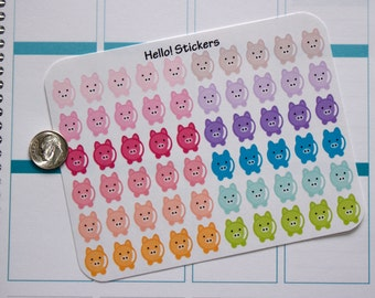 Colorful Pastel Piggy Banks Stickers for Erin Condren Planner,Happy Planner, Saving, Money Saving Stickers, Budget Stickers,or just for fun!
