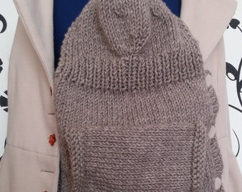 Hand Knitted Front Baby Carrier Cover and Hoodie Baby Wrap Cover Accessories Beyond Fashion