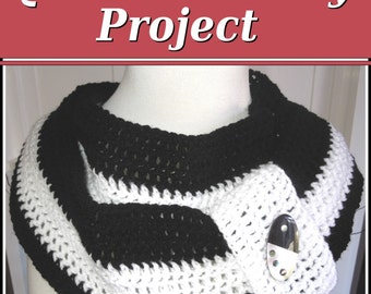 Crochet PATTERN Infinity Scarf, Quick and Easy Project - Instant Download