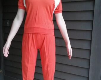Vintage 1970s Orange Tracksuit Outfit