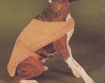 Boxer Dog Coat Knitting Pattern Totem -  PDF Download