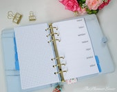 PRINTABLE Week on 1 Page (WO1P) Planner Insert - Personal Size Inserts