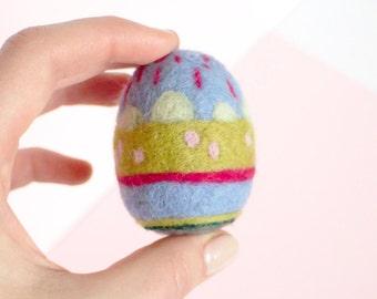 Egg // Easter // Felted Egg // Needle Felted Egg // wool sculpture// Home Decor