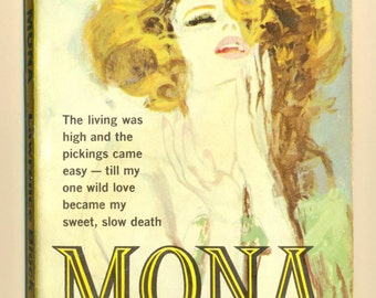 Mona by Lawrence Block vintage paperback 1961 1st Canadian printing author's first book