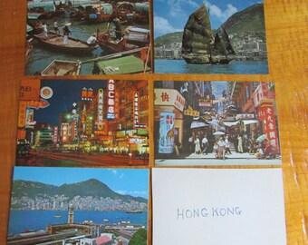 VINTAGE Cartes postales de HONG KONG