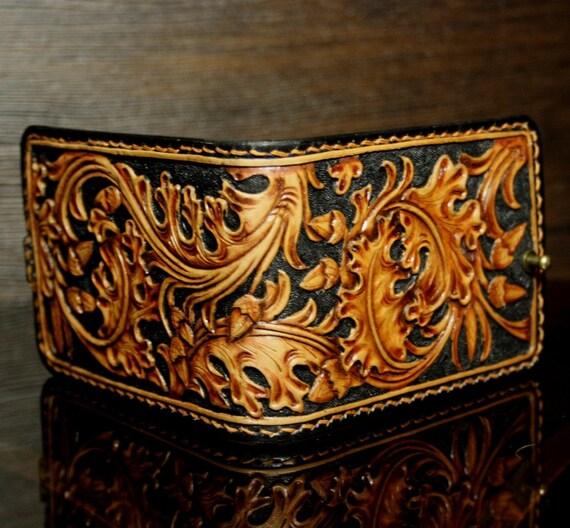 Oak leaf leather carving pattern pixshark
