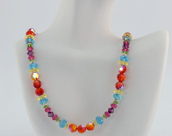 Tropical Fire Multi-color Crystal Necklace - N1608