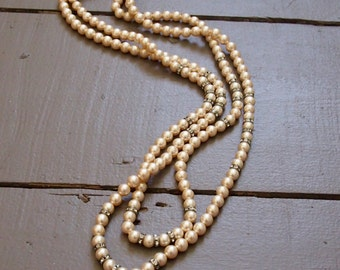 Vintage Rosita double layer of pearls