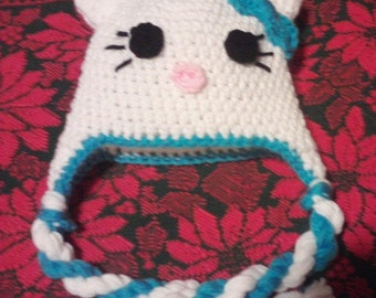 Hello Kitty Inspired Earflap Hat