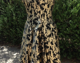 Vintage MIGNON New York Strapless Gold Dress