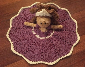 Crochet Disney Inspired Princess Sophia the First Doll, Lovey, Security Blanket
