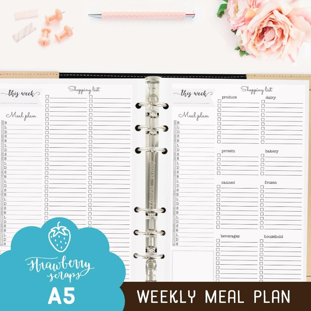 Meal planner printable: WEEKLY MEAL PLAN Weekly