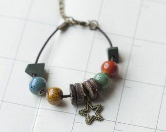 Beaded Braided Bracelet,Friends Bracelet,Star B-05