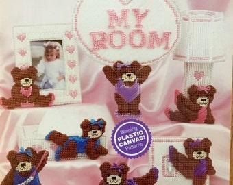 Needlecraft Shop Plastic Canvas Ballet Bears Girl's Bedroom Pattern by Trudy Bath Smith #903303
