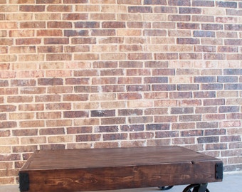 Handmade Factory Cart Coffee Table--Authentic Reclaimed Materials