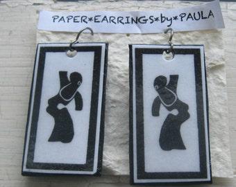 dancing lady paper earrings by paula
