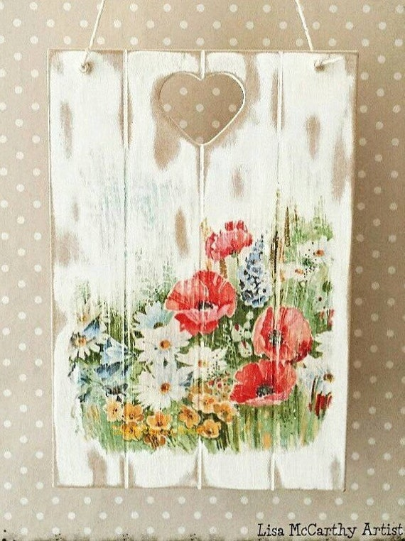 Rustic French Wall Decor : Wooden wall plaque french rustic chicvictorian