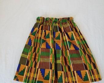 girls skirt kente fabric