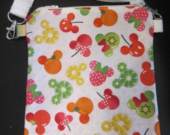 Minnie and Mickey Fruit Salad tote/Over the Shoulder Bag