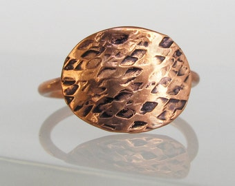 Unique Rings for Her - Festival Fashion Copper Ring - Bohemian Ring Healing Jewelry - Best Friend Gift Ideas - Hammered Copper Ring
